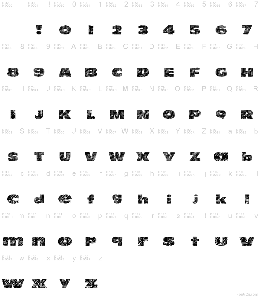 101! circuit board fontbasic font information
