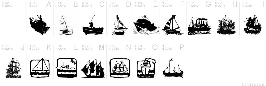 菜谱字体矢量图