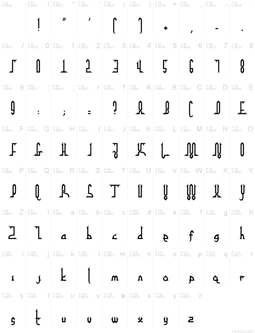 Alpha kufi regular font