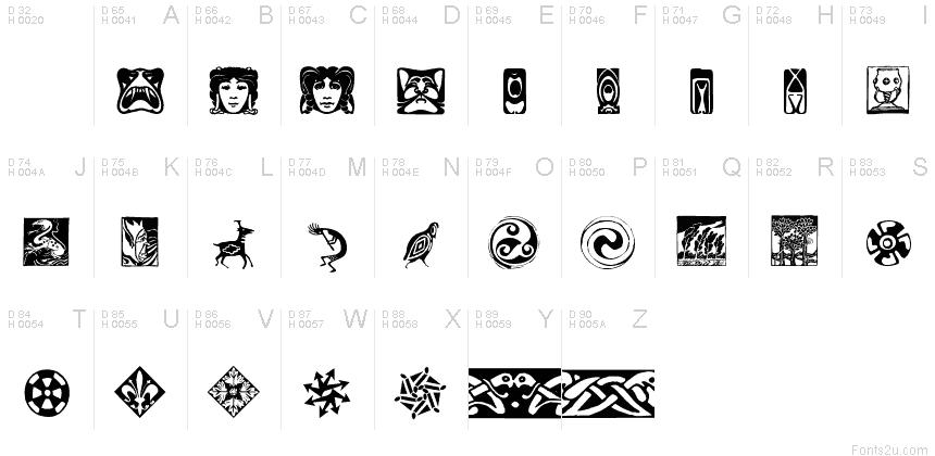 Artfonts Sampler Font