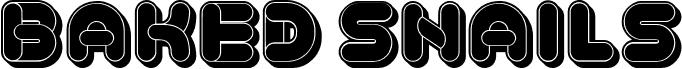 Baked Snails 3D Flat Regular font