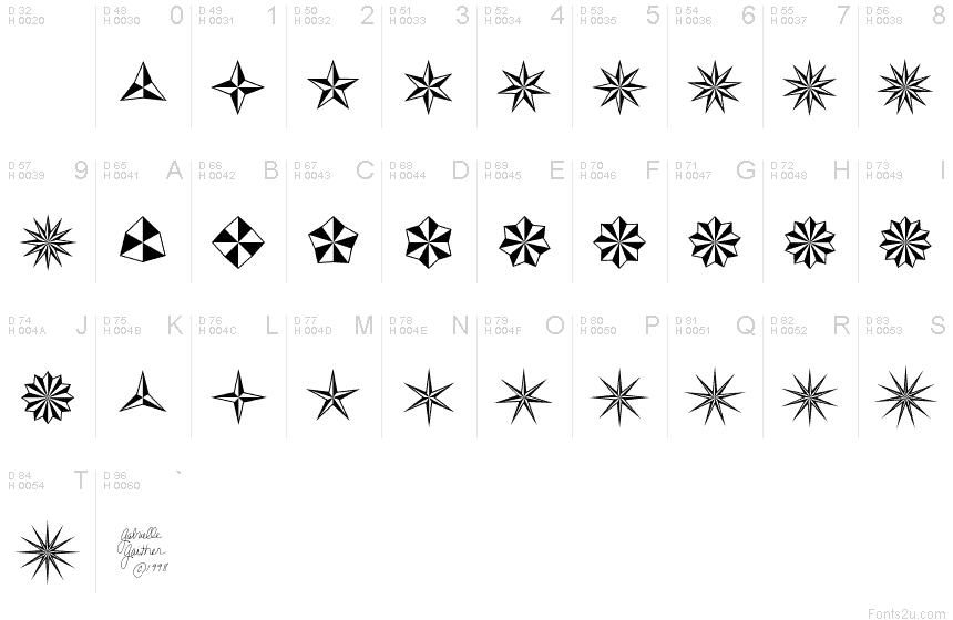 basic star font
