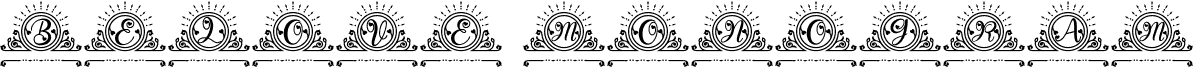 Belove Monogram الخط