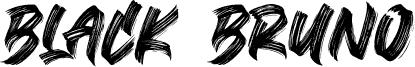 Black Bruno 字体
