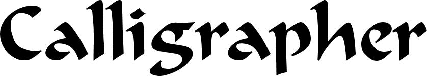 Calligrapher Regular font