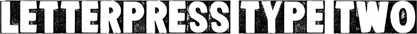 CF Letterpress Type Two PERSO Regular Schriftart