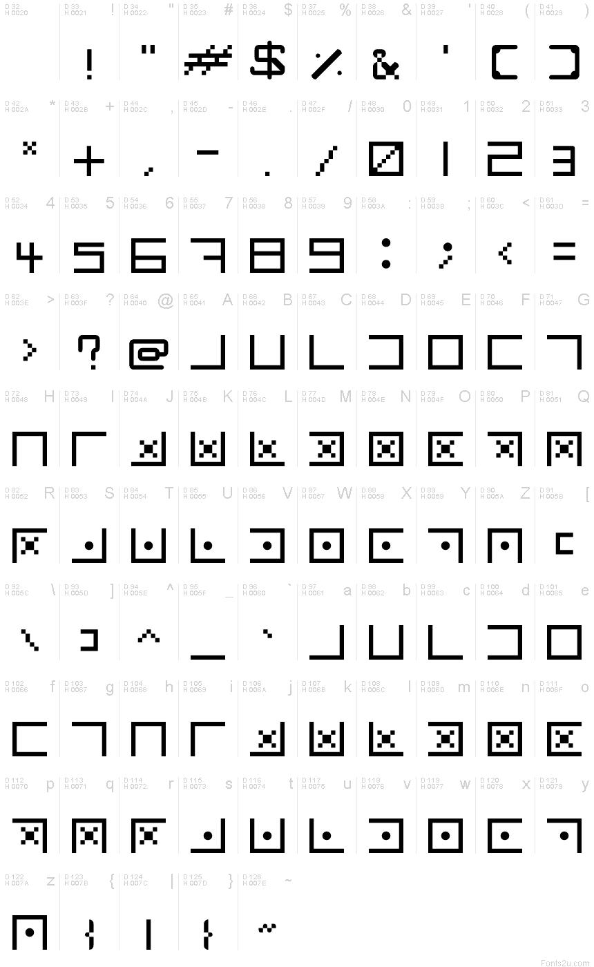 Secret Codes Club Penguin Code Regular Font
