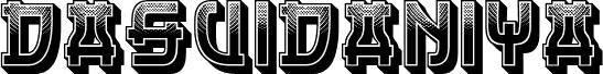 Dasvidaniya Gradient Regular font