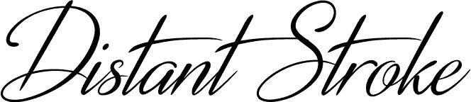 DistantStroke-Medium font