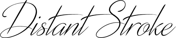 DistantStroke font