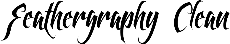 Feathergraphy Clean font