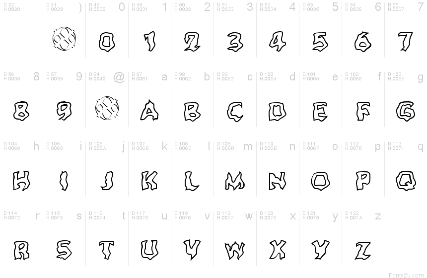 Basic outline font - DirectX Factor - Character Outline Geometries