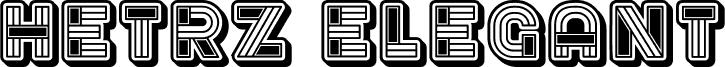 Hetrz Elegant Regular font