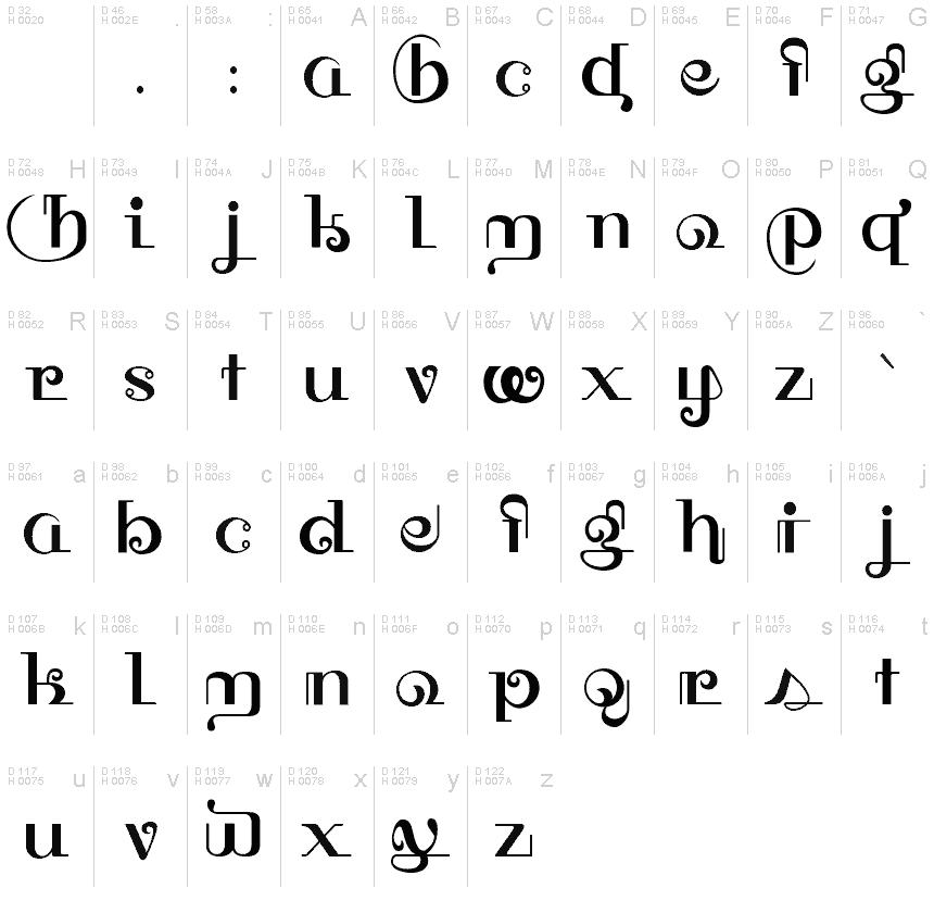 HFF Thai Dye Schriftart