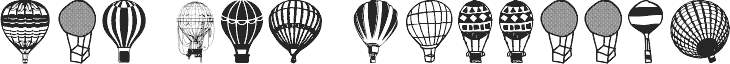 Hot Air Balloons fonte