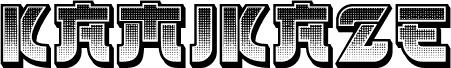 Kamikaze Gradient Regular font