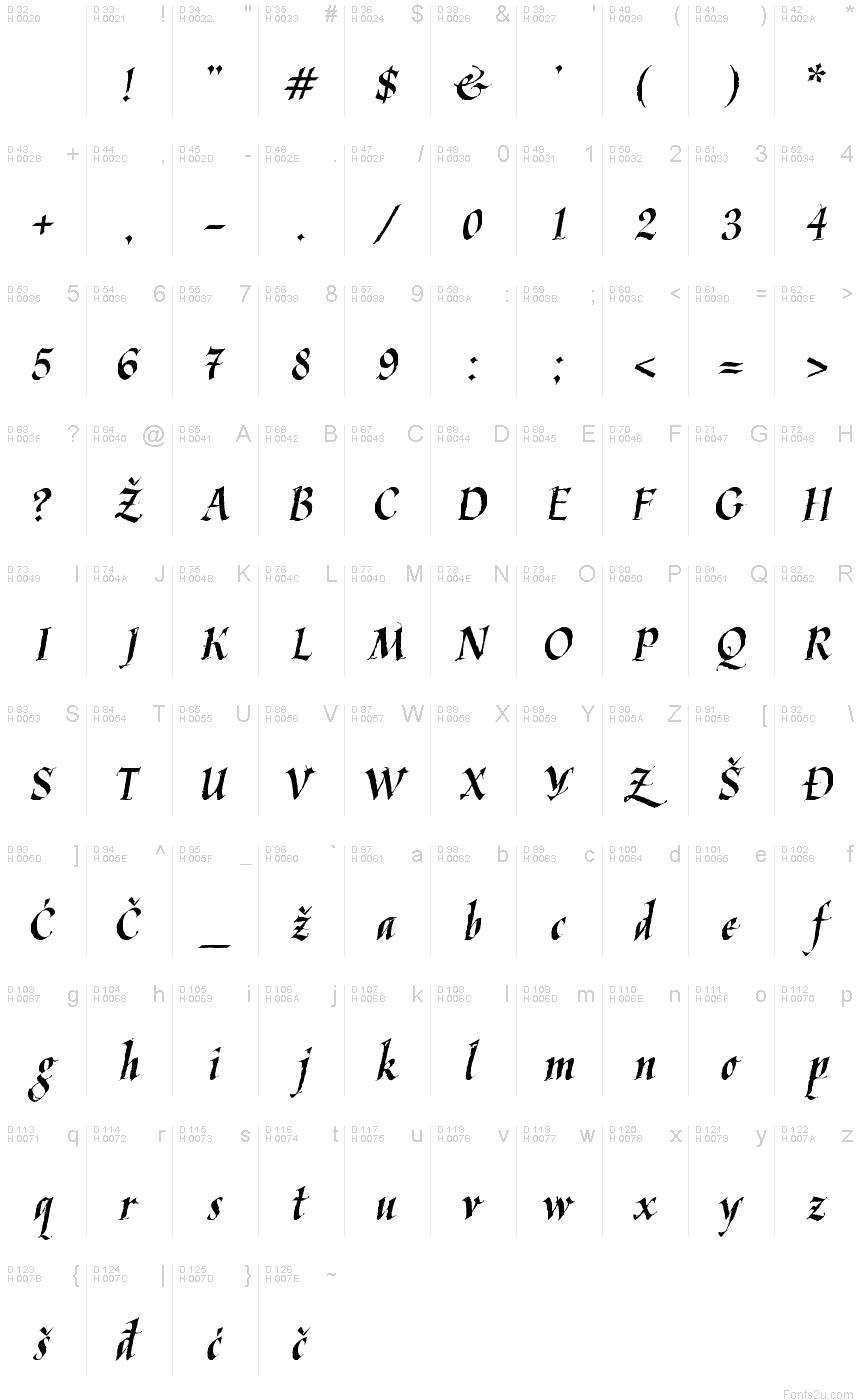 Kaligraflatin Font