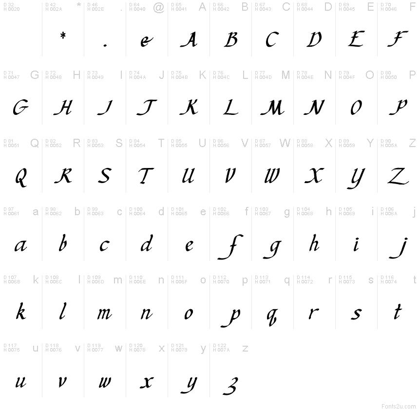 Ken's Calligraphic font