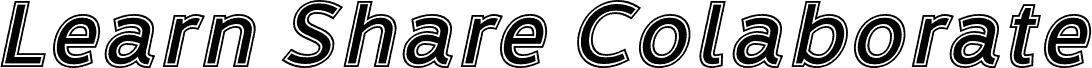 LearnShareColaborateInout-Italic font
