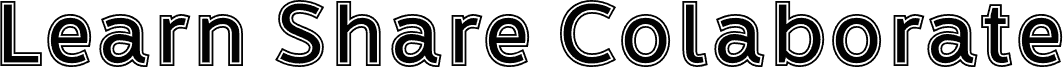 LearnShareColaborateInout font