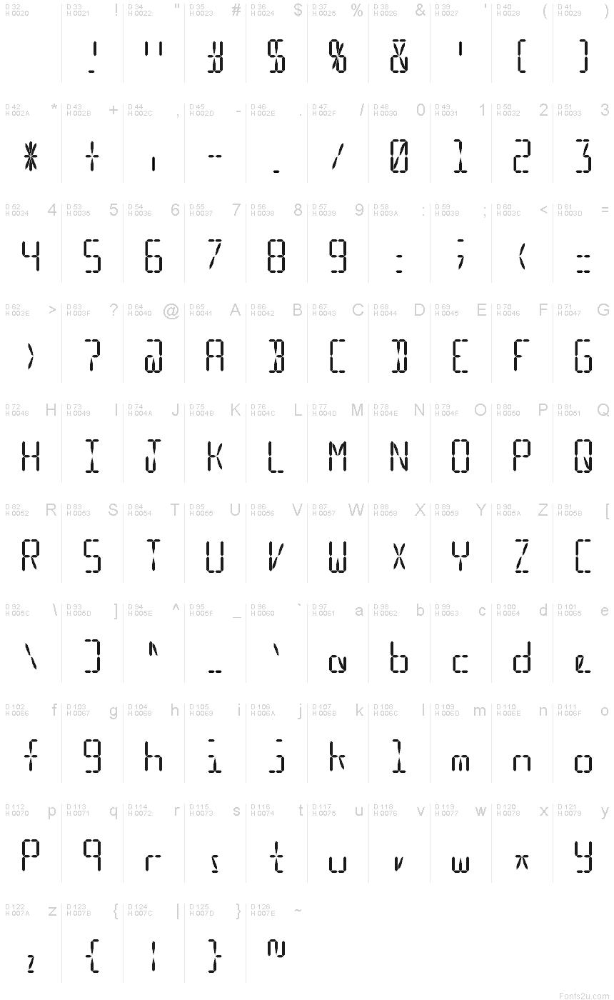 Led Simulator Font