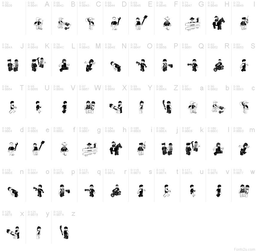 Lego System Font