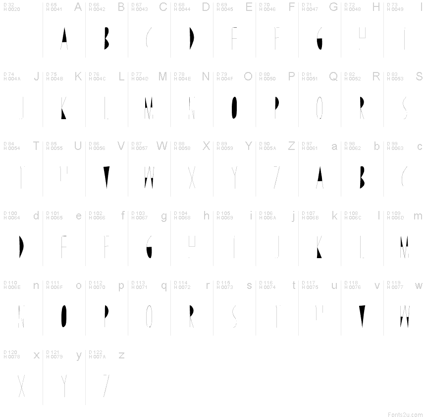 Line Drawing Unicode : Line and draw font