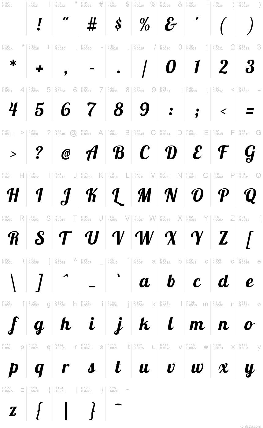 LobsterTwo-BoldItalic font