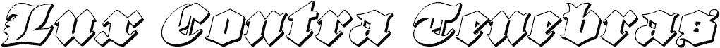 Lux Contra Tenebras 3D Italic czcionka