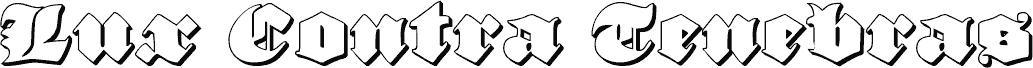 Lux Contra Tenebras 3D font