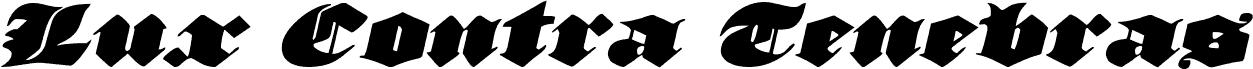 Lux Contra Tenebras Expanded Italic czcionka