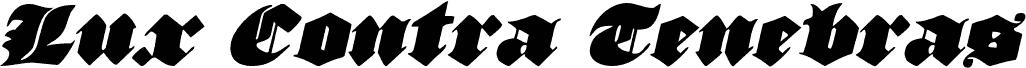 Lux Contra Tenebras Italic font