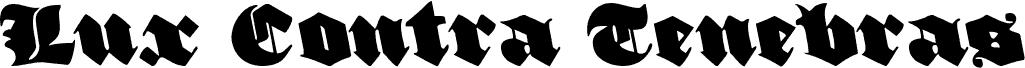 Lux Contra Tenebras Leftalic font
