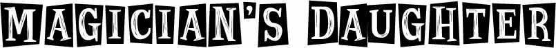 Magician's Daughter font