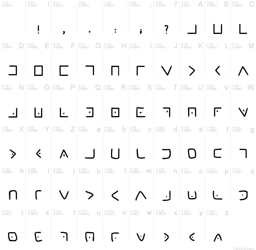 masonic cipher font