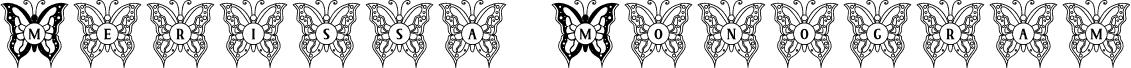 Merissa Monogram fuente