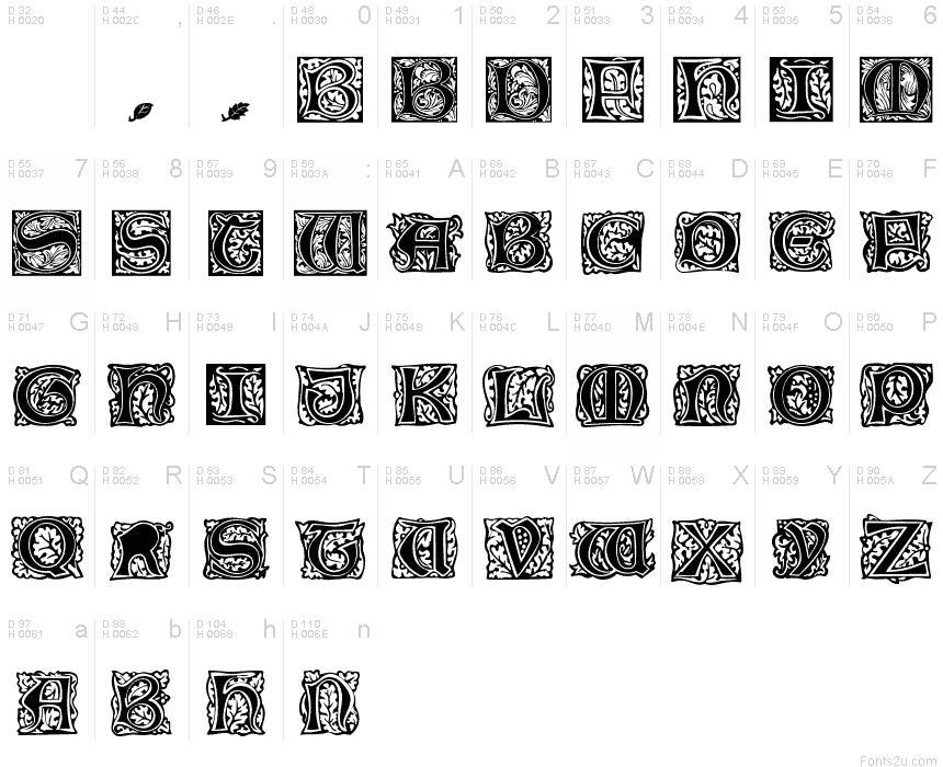 William Morris Fonts Initial