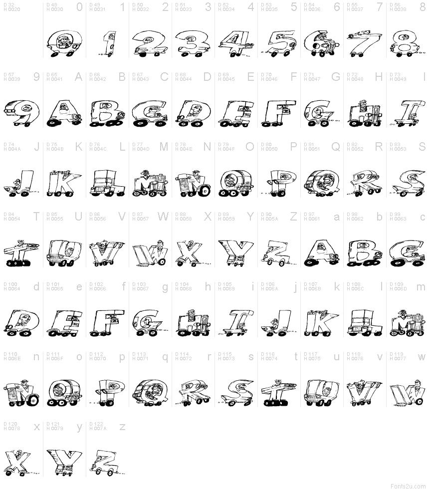 Motoring font