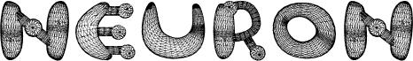 Neuron 3D Regular font