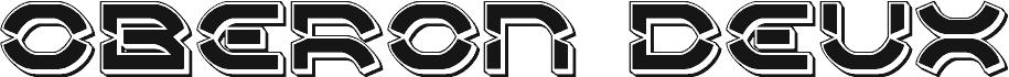 Oberon Deux Punch 字体