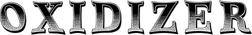 Oxidizer Regular フォント