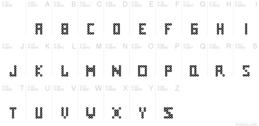 Perler Bead Regular Font