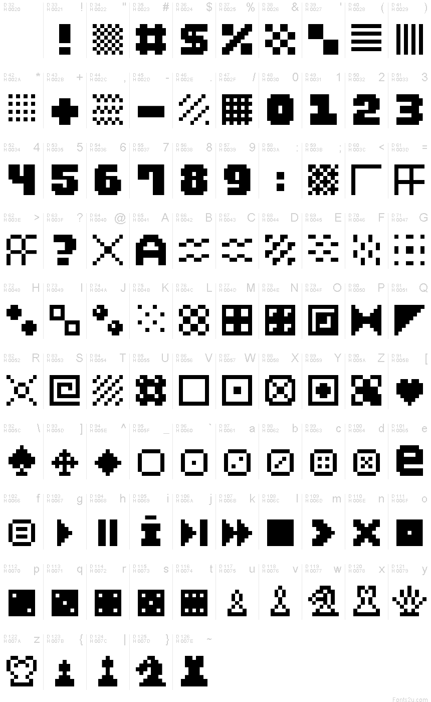 Download Unicode 1.9 - See the Unicode characters in supported fonts.