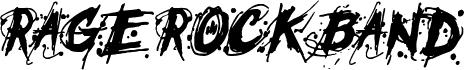 Rage Rock Band 字体