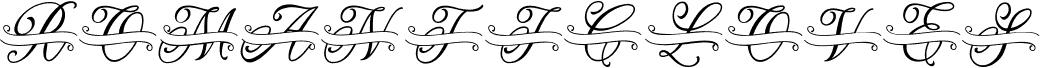 ROMANTIC LOVES MONOGRAM font