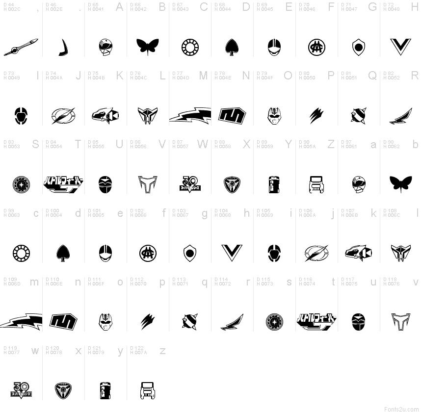 Sentai 30 Dingbats Font