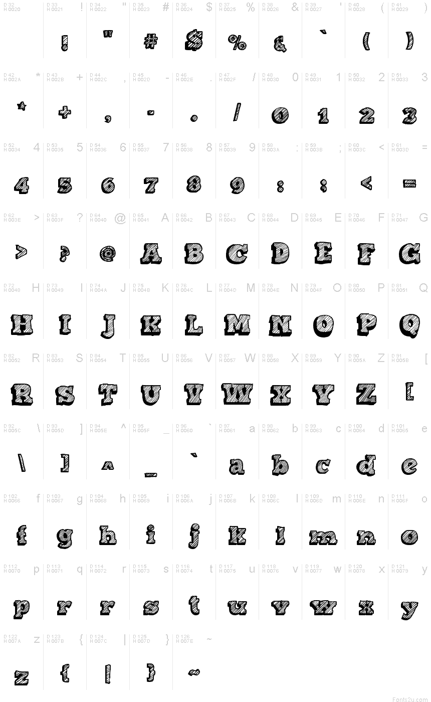 Displaying 18> Images For - Handwritten Sketch Font...