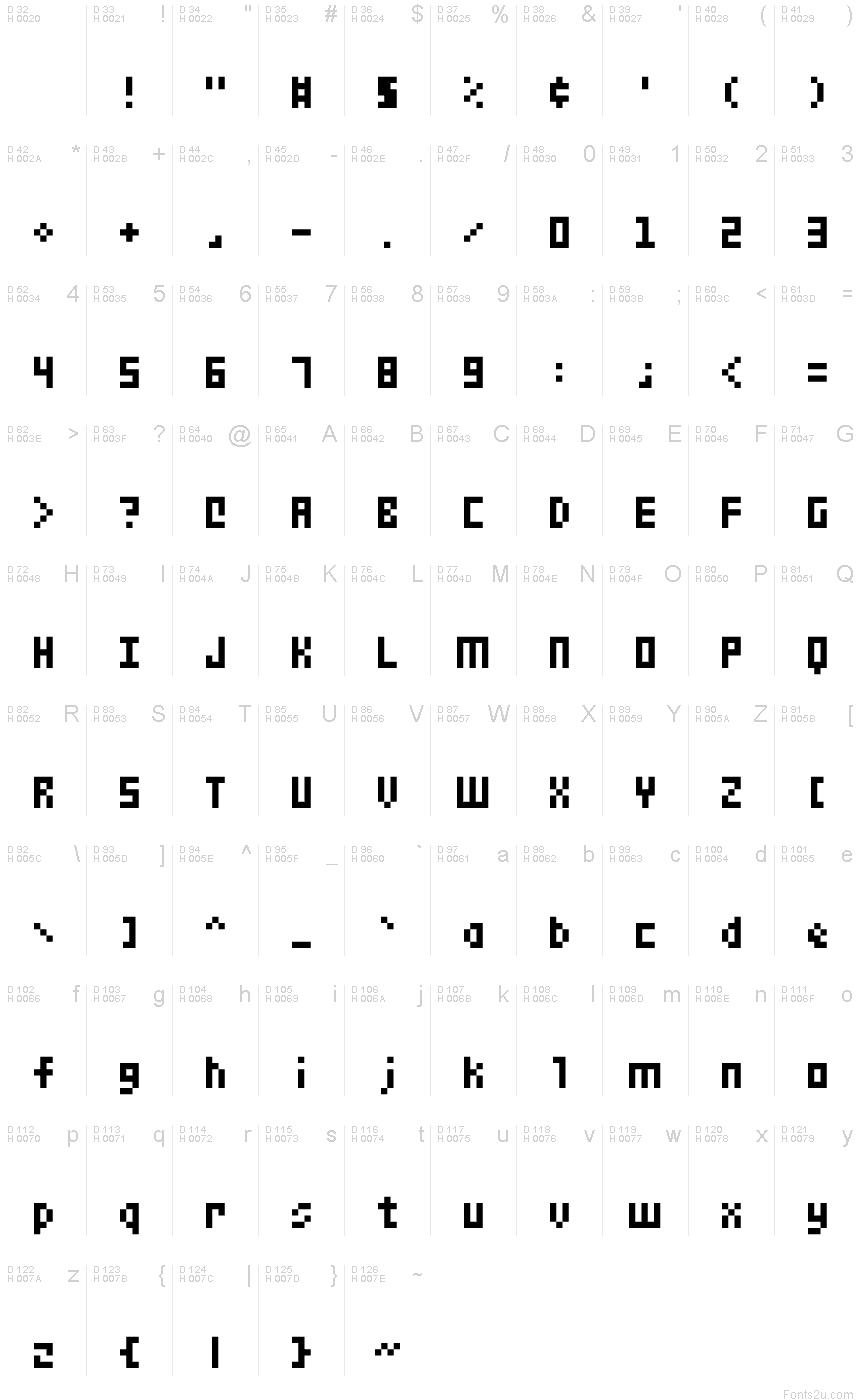 Small 5x3 Regular font