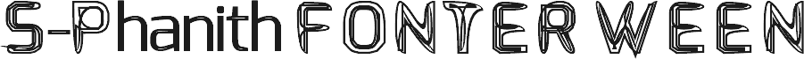 S-Phanith FONTER WEEN шрифт