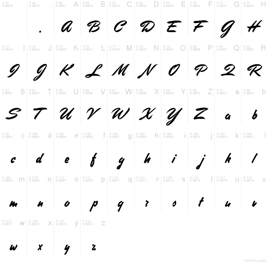 handwriting font latin extended